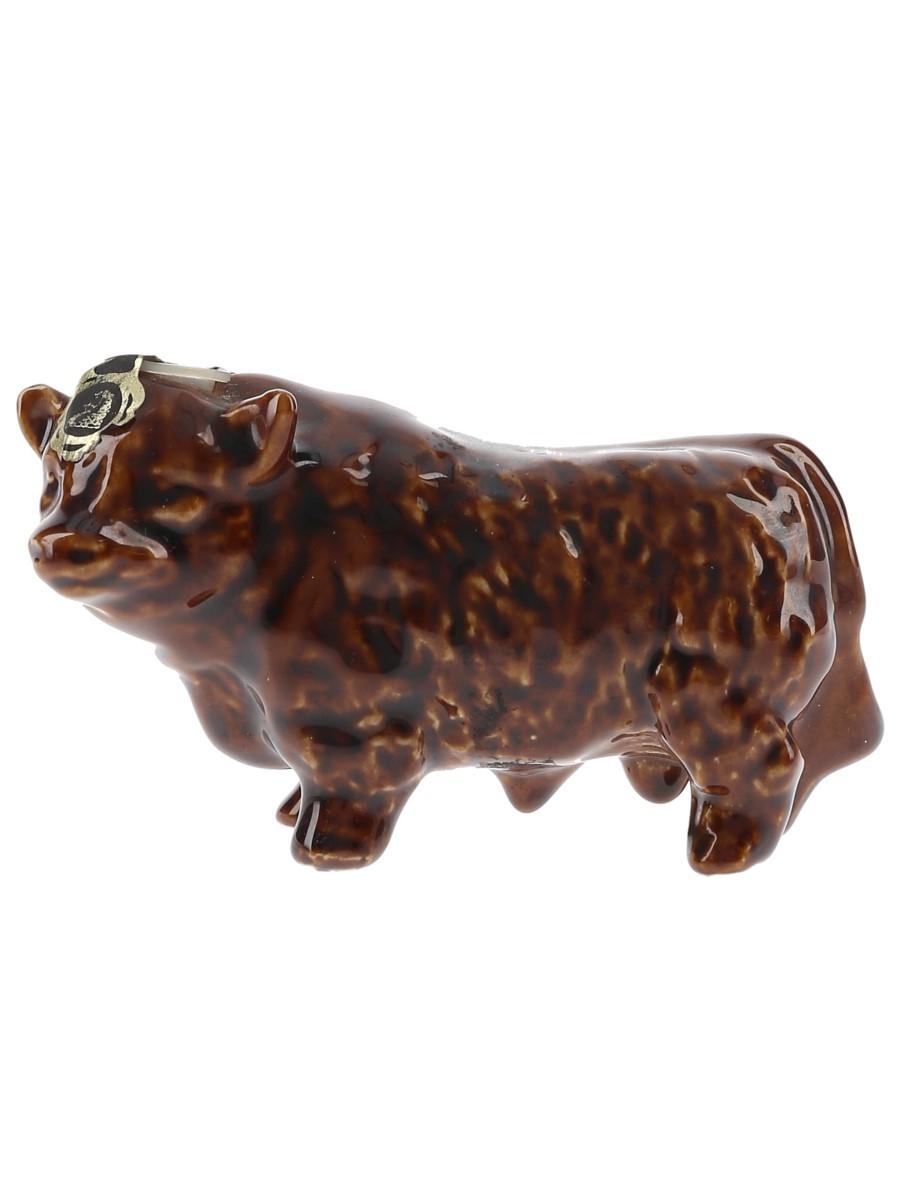 Rutherford's Bull Ceramic Miniature Bottled 1970s 4.7cl / 40%
