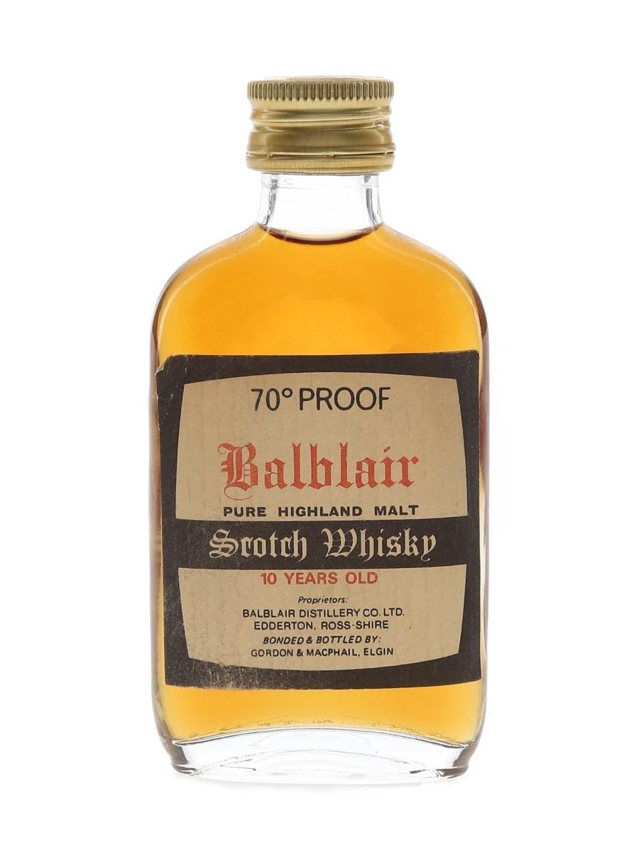 Balblair 10 Year Old Bottled 1970s - Gordon & MacPhail 5cl / 40%