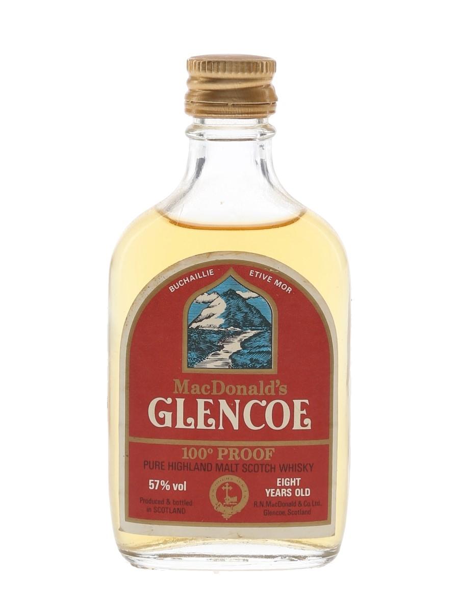 MacDonald's Glencoe 8 Year Old 100 Proof Bottled 1970s 5cl / 57%