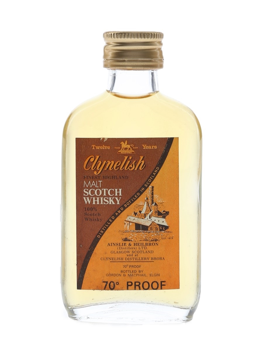 Clynelish 12 Year Old Bottled 1970s - Gordon & MacPhail 5cl / 40%