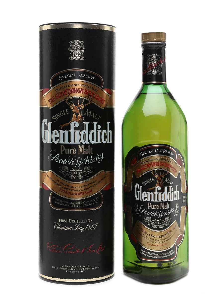 Glenfiddich Pure Malt Duty Free Stock 100cl