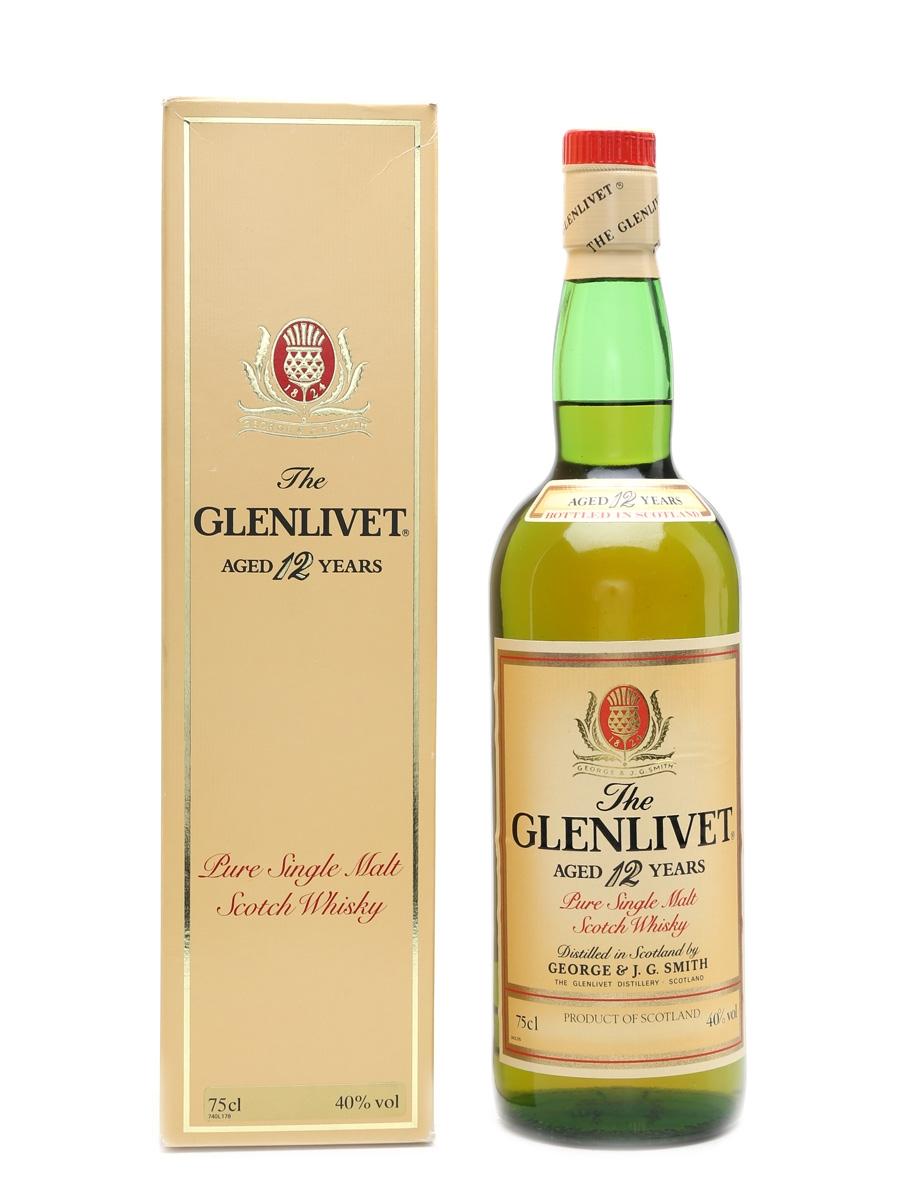 Glenlivet 12 Year Old Bottled 1980s 75cl / 40%