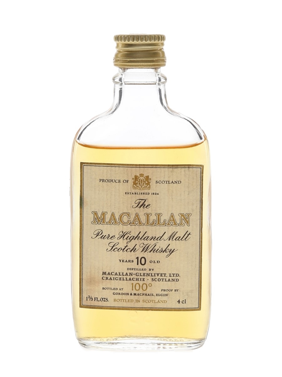 Macallan 10 Year Old 100 Proof Bottled 1970s - Gordon & MacPhail 4cl / 57%