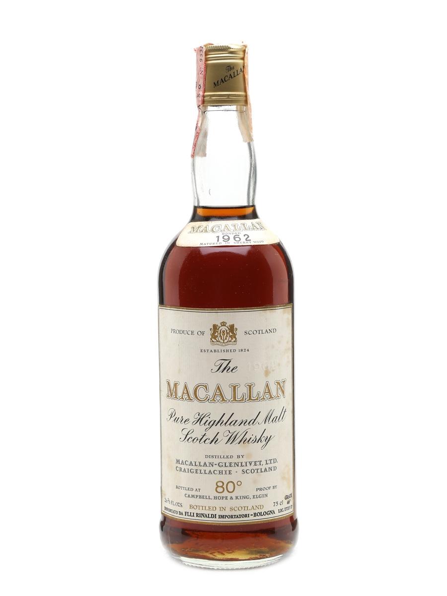Macallan 1962 Rinaldi Bottled  1970s 75cl