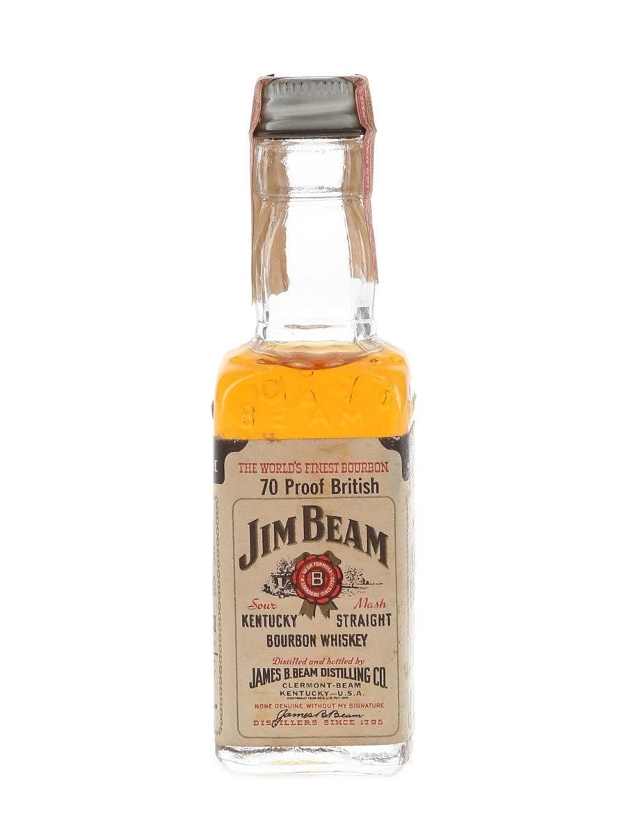 Jim Beam 4 Year Old Bottled 1970s 4.7cl / 40%