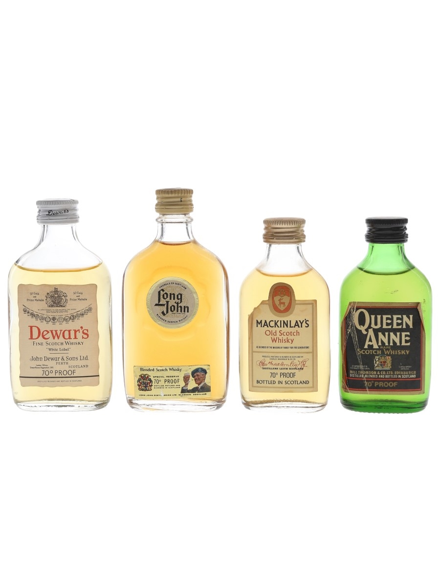 Dewar's, Long John, Mackinlay's & Queen Anne Bottled 1960s & 1970s 4 x 5cl / 40%