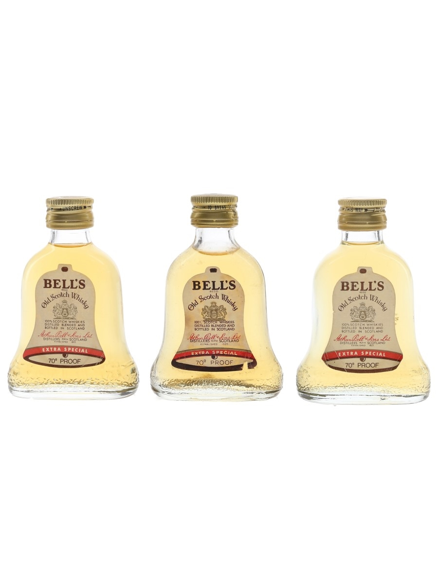 Bell's Extra Special Bottled 1970s 3 x 5cl / 40%