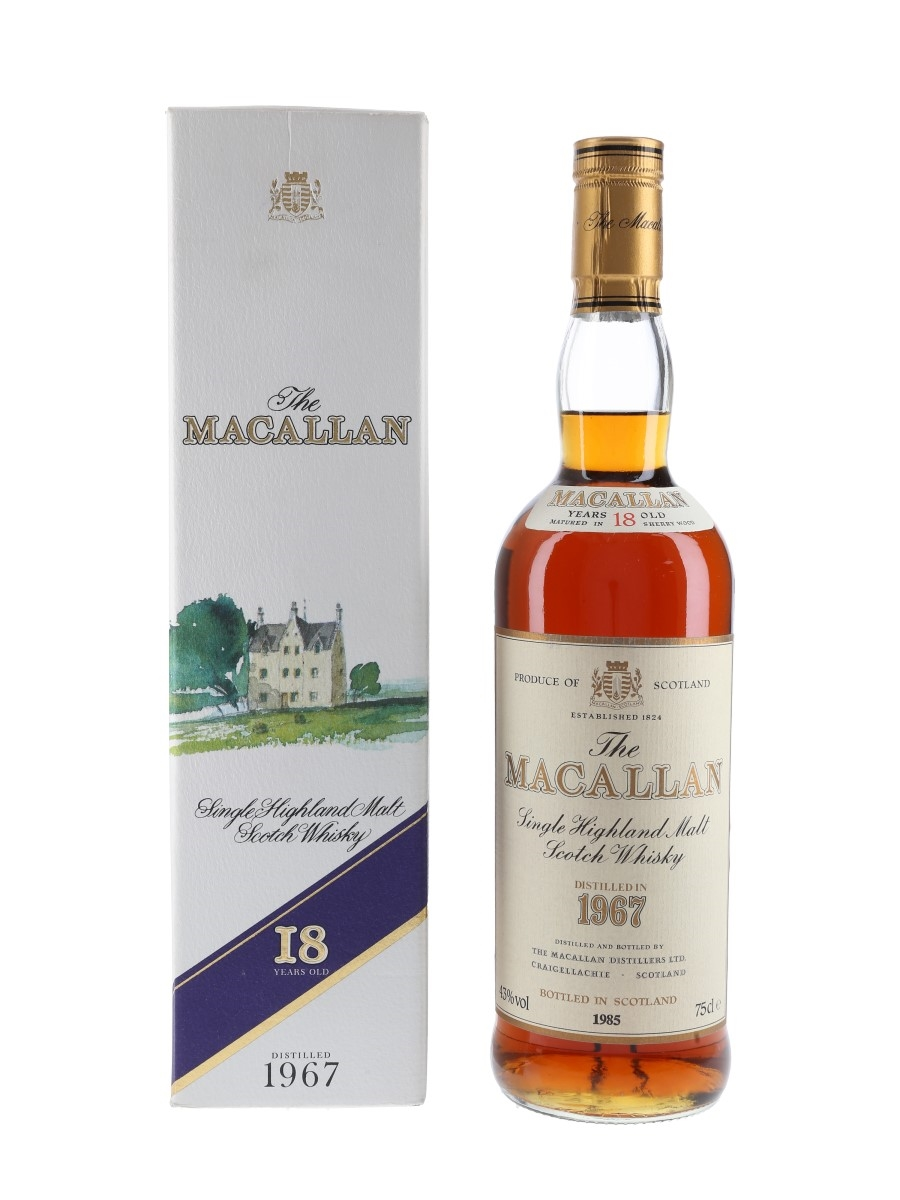 Macallan 1967 18 Year Old Bottled 1980s 75cl / 43%