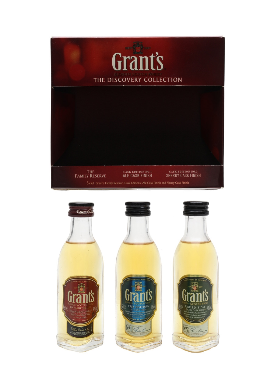 William Grant's Discovery Collection Set  3 x 5cl / 40%