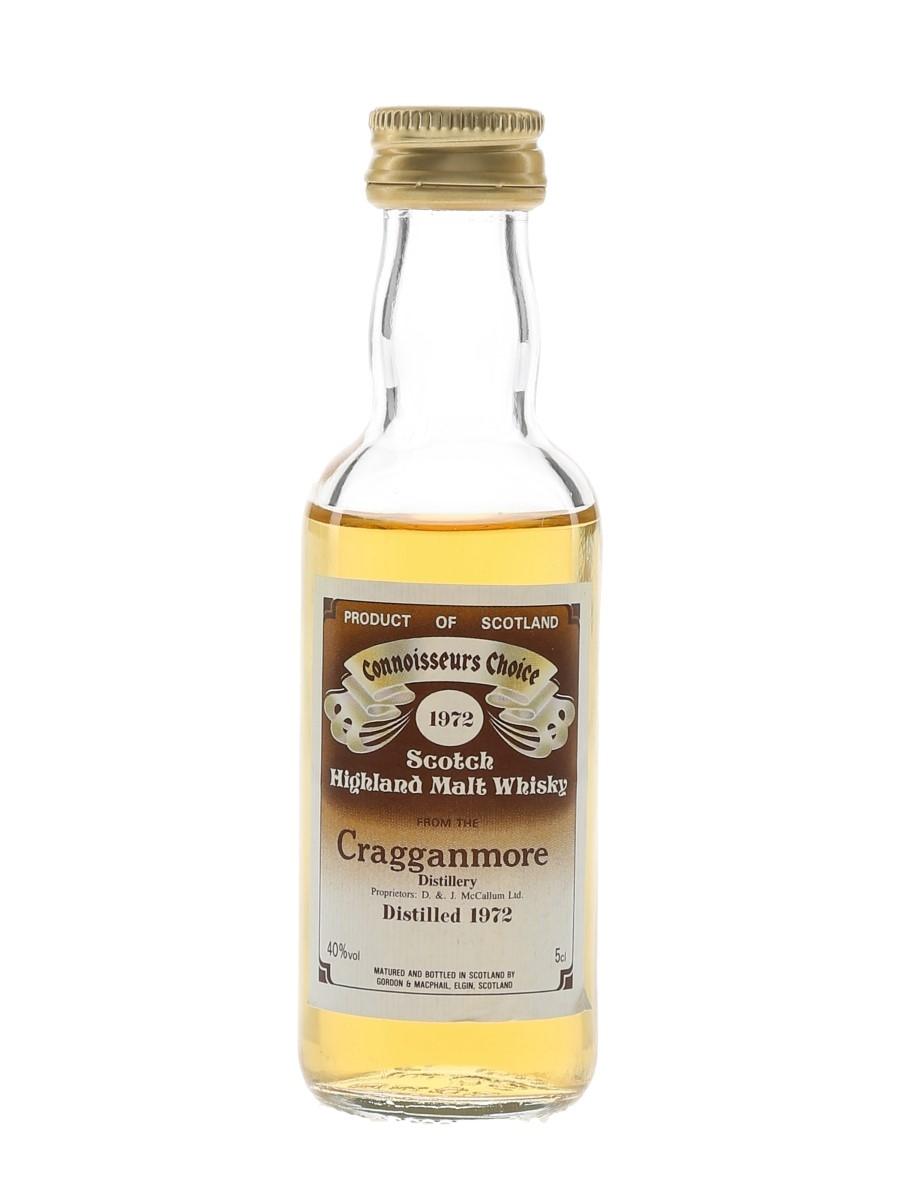 Cragganmore 1972 Connoisseurs Choice Bottled 1980s - Gordon & MacPhail 5cl / 40%
