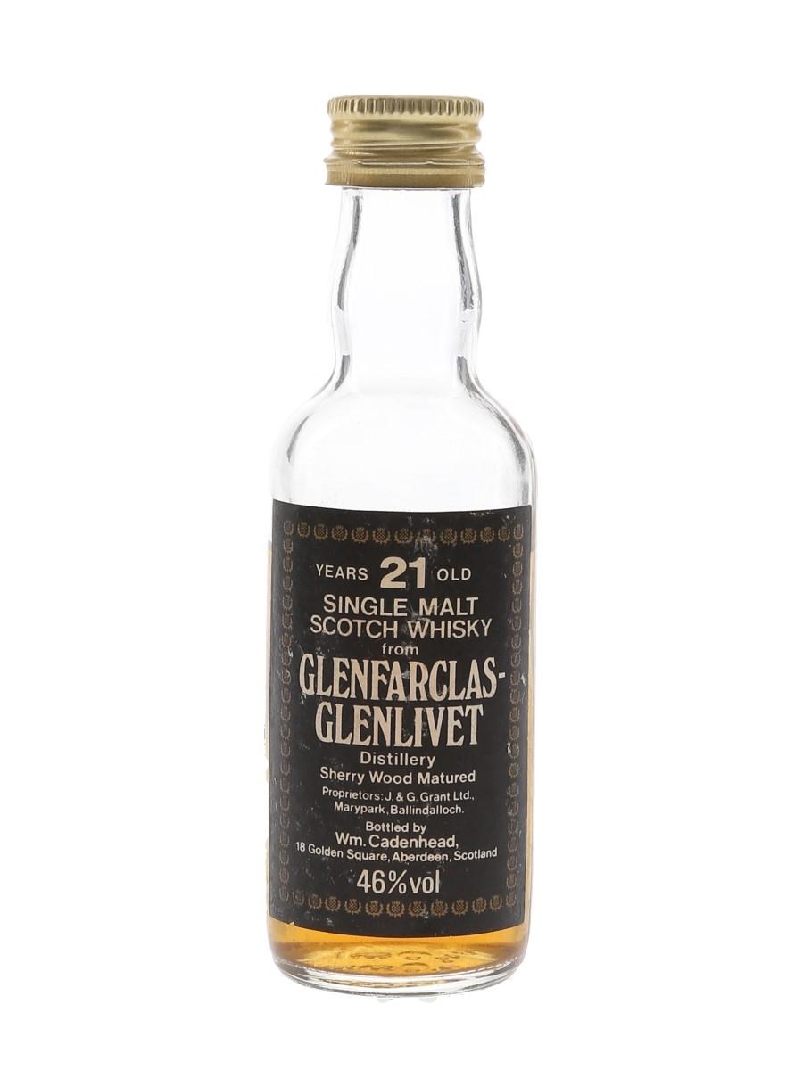 Glenfarclas Glenlivet 21 Year Old Bottled 1980s - Cadenhead's 5cl / 46%
