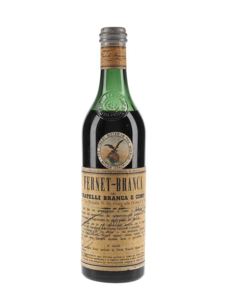 Fernet Branca Bottled 1950s - Walter Symons & Co. 45cl / 40%
