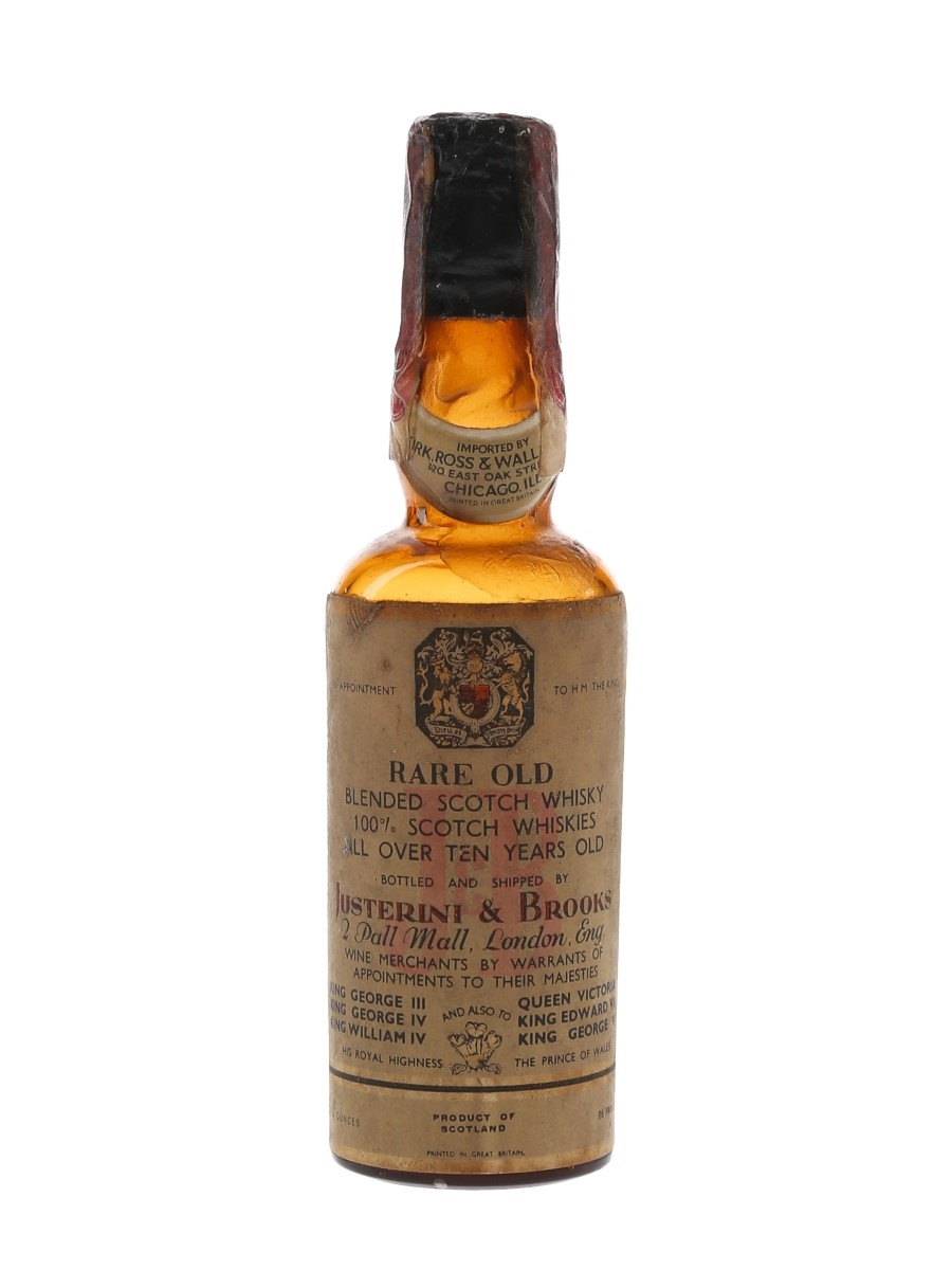Justerini & Brooks 10 Year Old Bottled 1930s-1940s 5cl / 43%