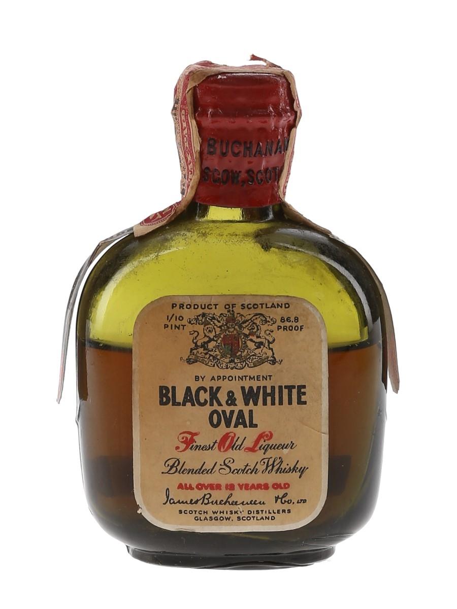 Buchanan's Black & White Oval 12 Year Old Bottled 1930s-1940s 4.7cl / 43.4%
