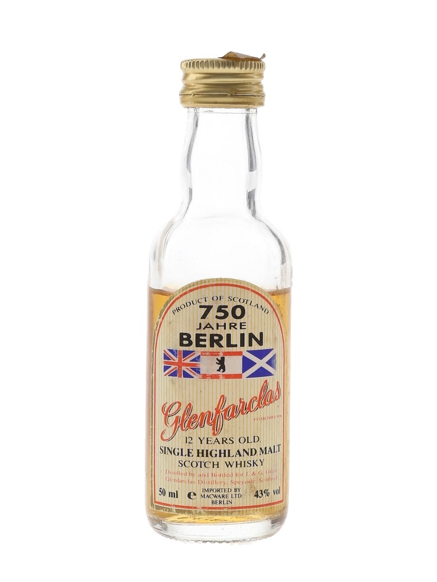 Glenfarclas 12 Year Old 750 Jahre Berlin Bottled 1980s - Macware 5cl / 43%