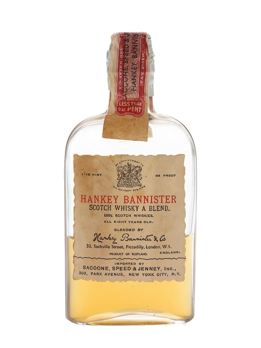 Hankey Bannister 8 Year Old Bottled 1930s-1940s - Saccone, Speed & Jenney 4.7cl / 43%