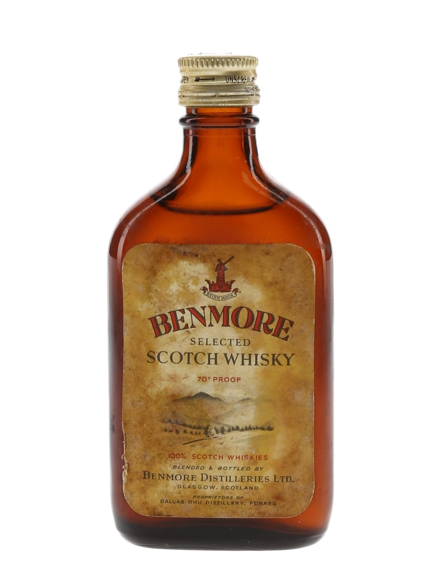 Benmore Selected Scotch Whisky Bottled 1960s 5cl / 40%
