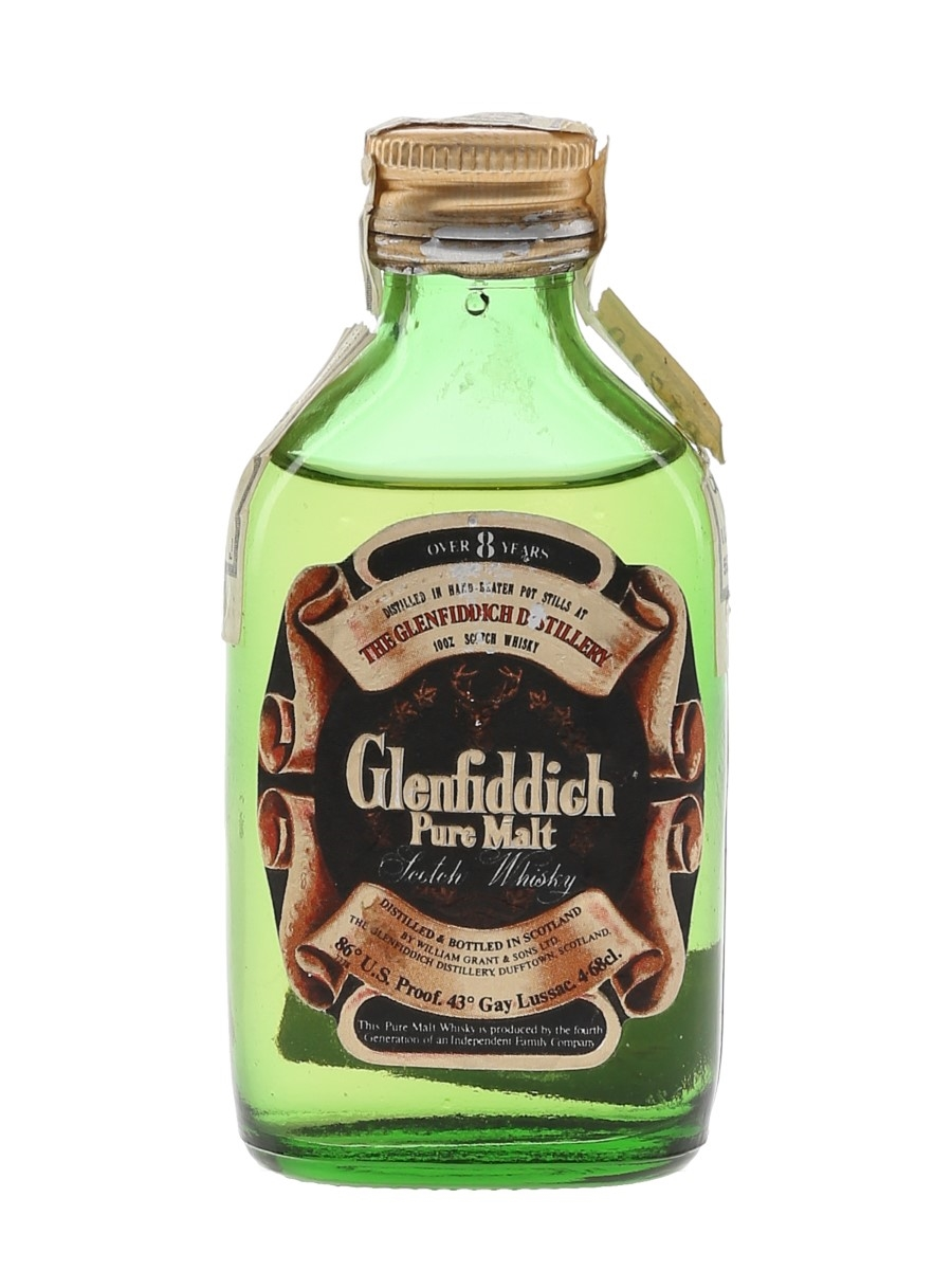 Glenfiddich 8 Year Old Pure Malt Bottled 1970s - Garcias 4.68cl / 40%