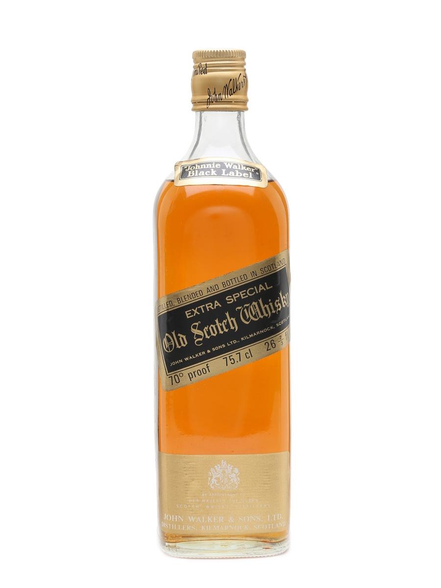 Johnnie Walker Black Label Extra Special Bottled 1970s 75.7cl