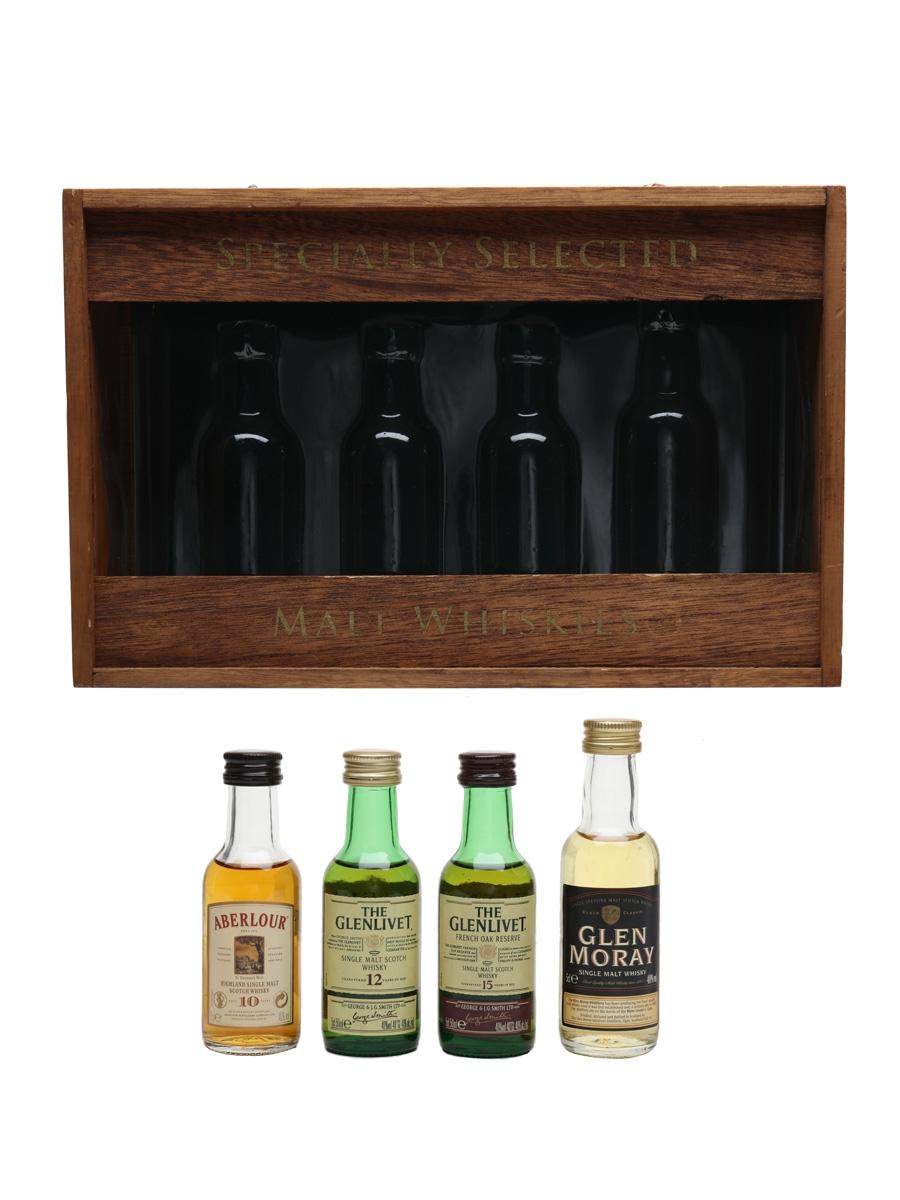 Specially Selected Malt Whiskies Aberlour, Glenlivet & Glen Moray 4 x 5cl / 40%