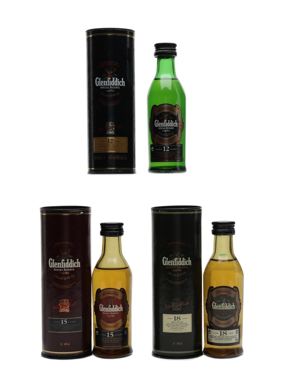 Glenfiddich 12, 15 & 18 Year Old  3 x 5cl / 40%