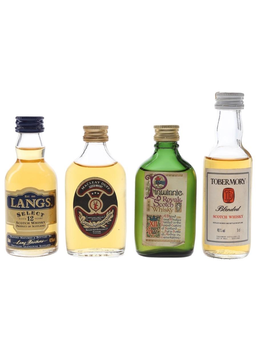 Langs, Macleay Duff, Pinwinnie Royale & Tobermory  4 x 5cl