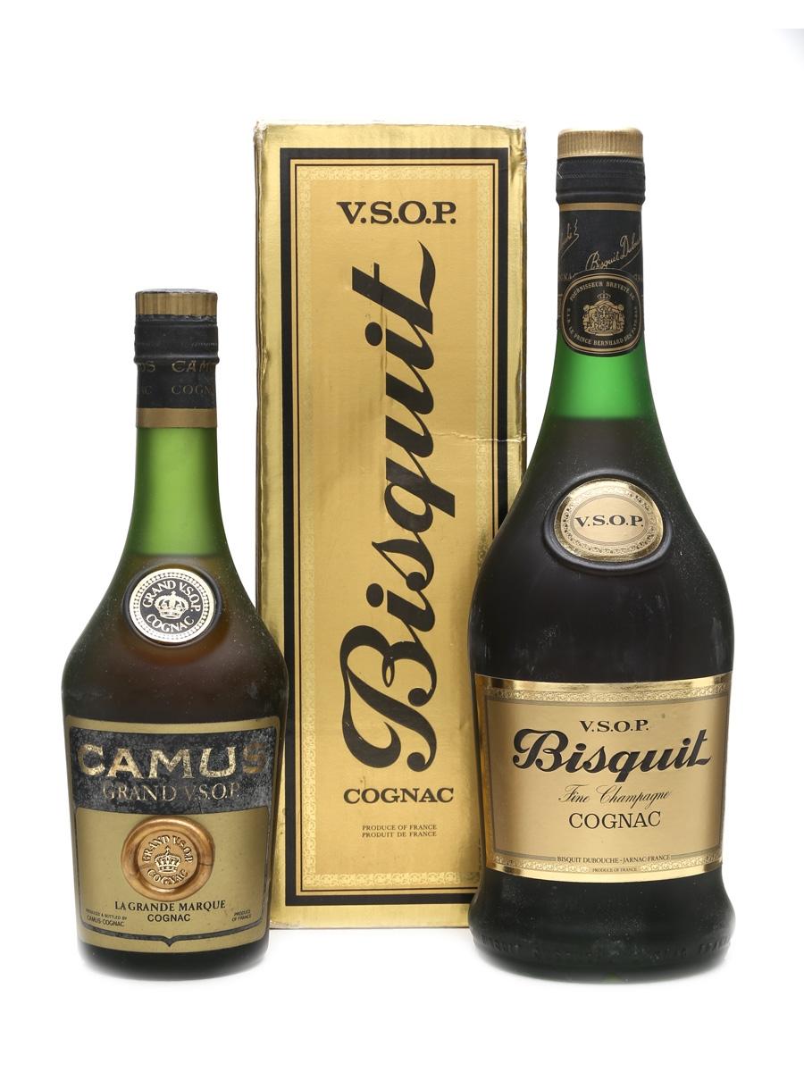 Bisquit VSOP & Camus VSOP Cognac  70cl & 35cl