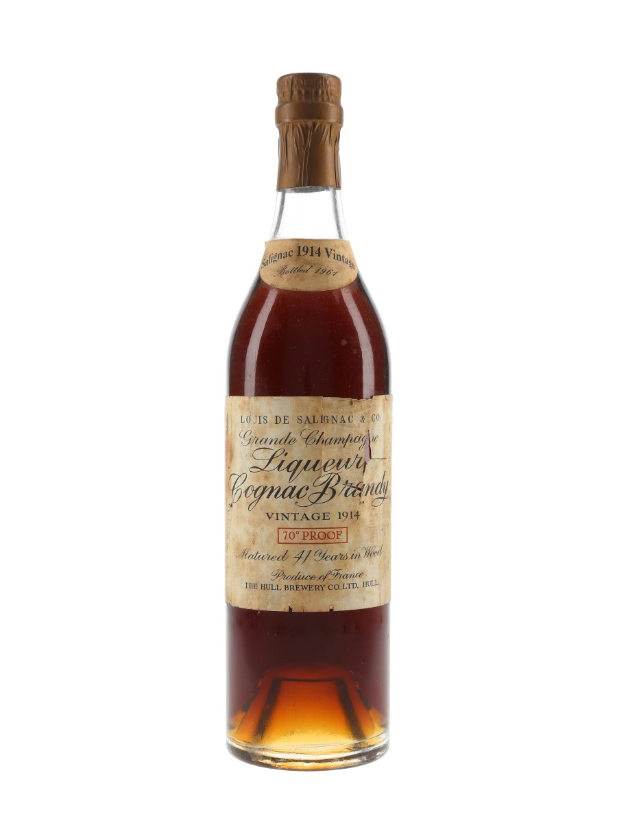 Louis De Salignac 1914 41 Year Old Bottled 1961 - Hull Brewery Co. 70cl / 40%