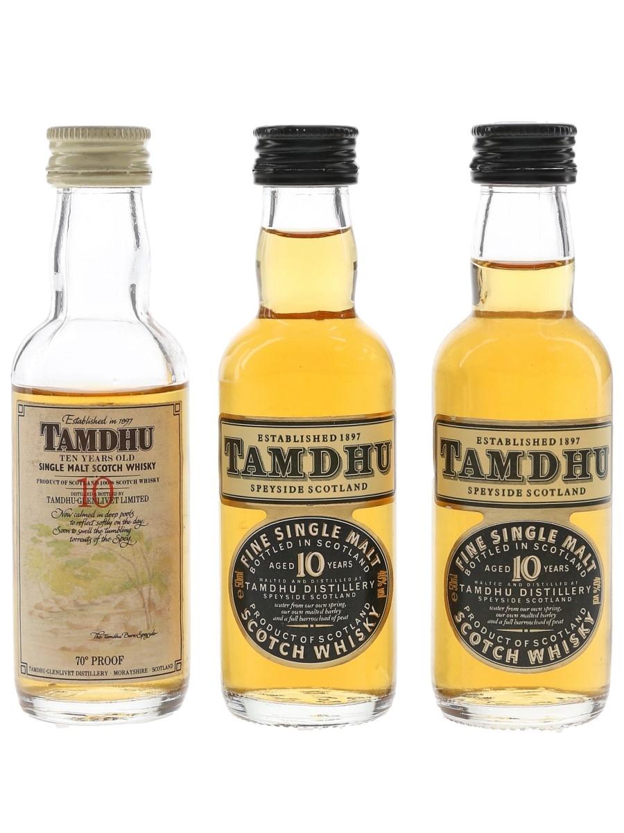 Tamdhu 10 Year Old Bottled 1970s & 1990s 3 x 5cl / 40%