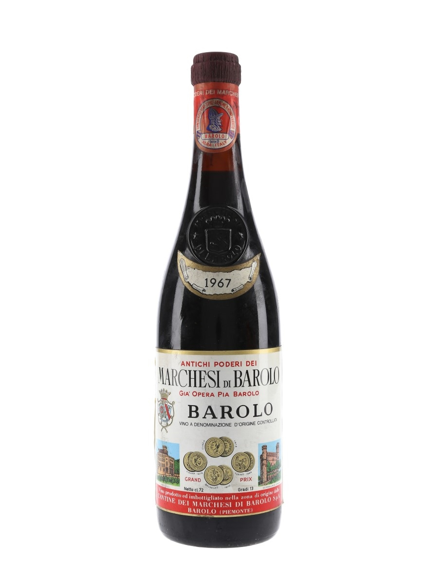 Marchesi Di Barolo 1967  72cl / 13%