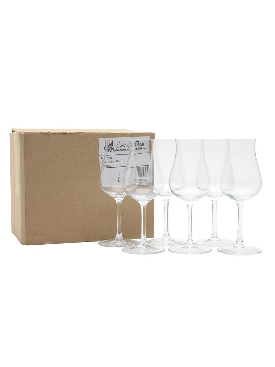 Eisch Glas Whisky Connoisseur Glasses Michael Jackson & Jurgen Deibel Set of Six