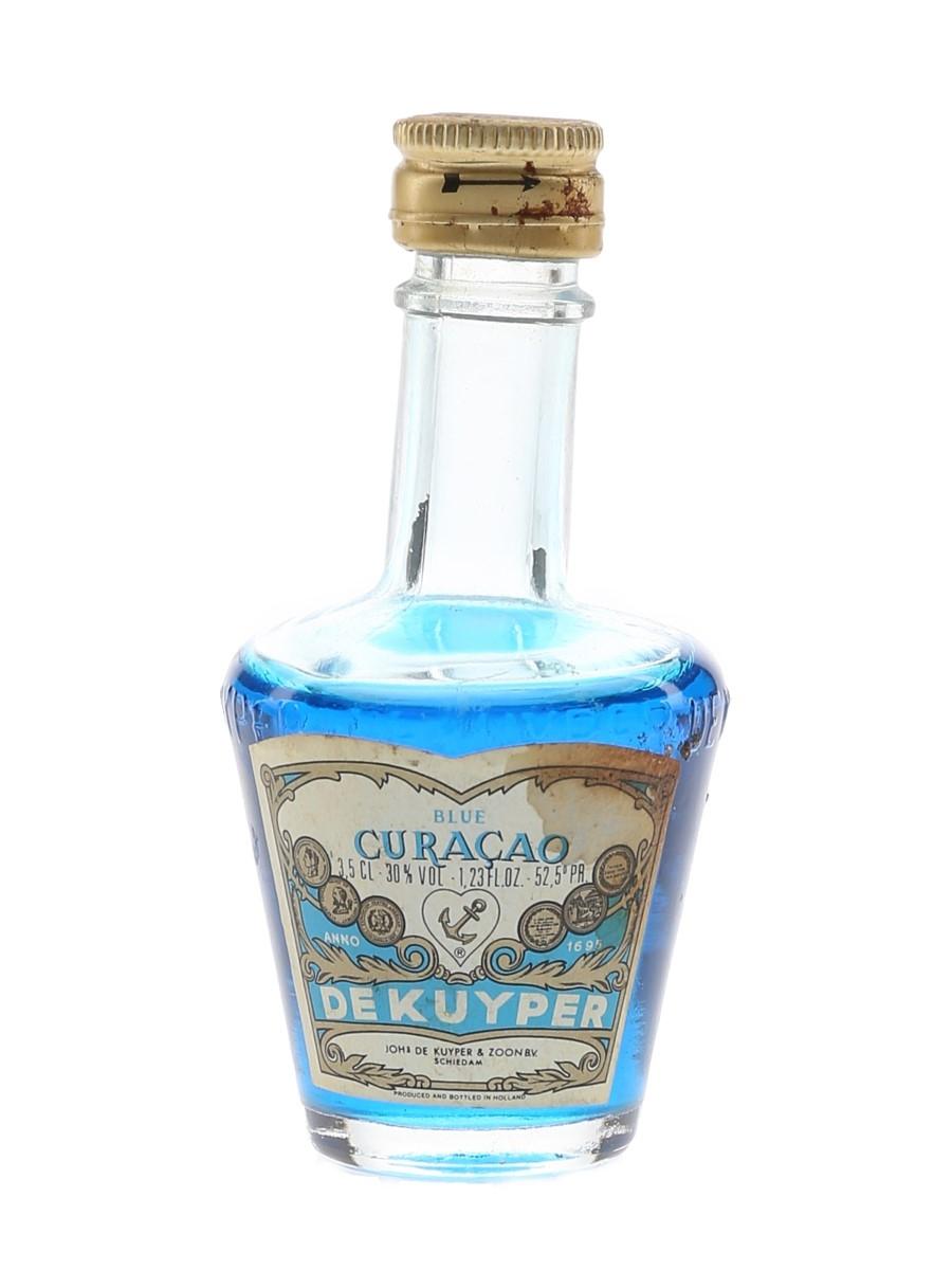 De Kuyper Blue Curacao Bottled 1970s 3.5cl / 30%