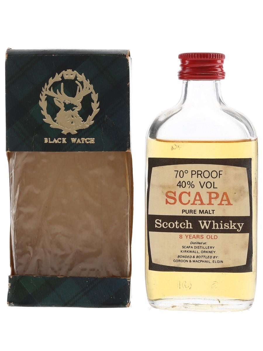 Scapa 8 Year Old Bottled 1970s-1980s - Gordon & MacPhail 5cl / 40%