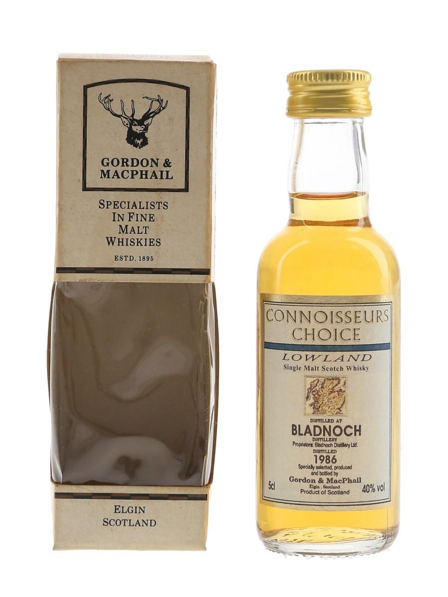 Bladnoch 1986 Connoisseurs Choice Bottled 1997 - Gordon & MacPhail 5cl / 40%