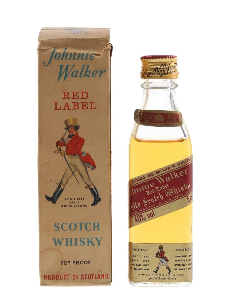 Johnnie Walker Red Label Bottled 1980s 5cl / 40%