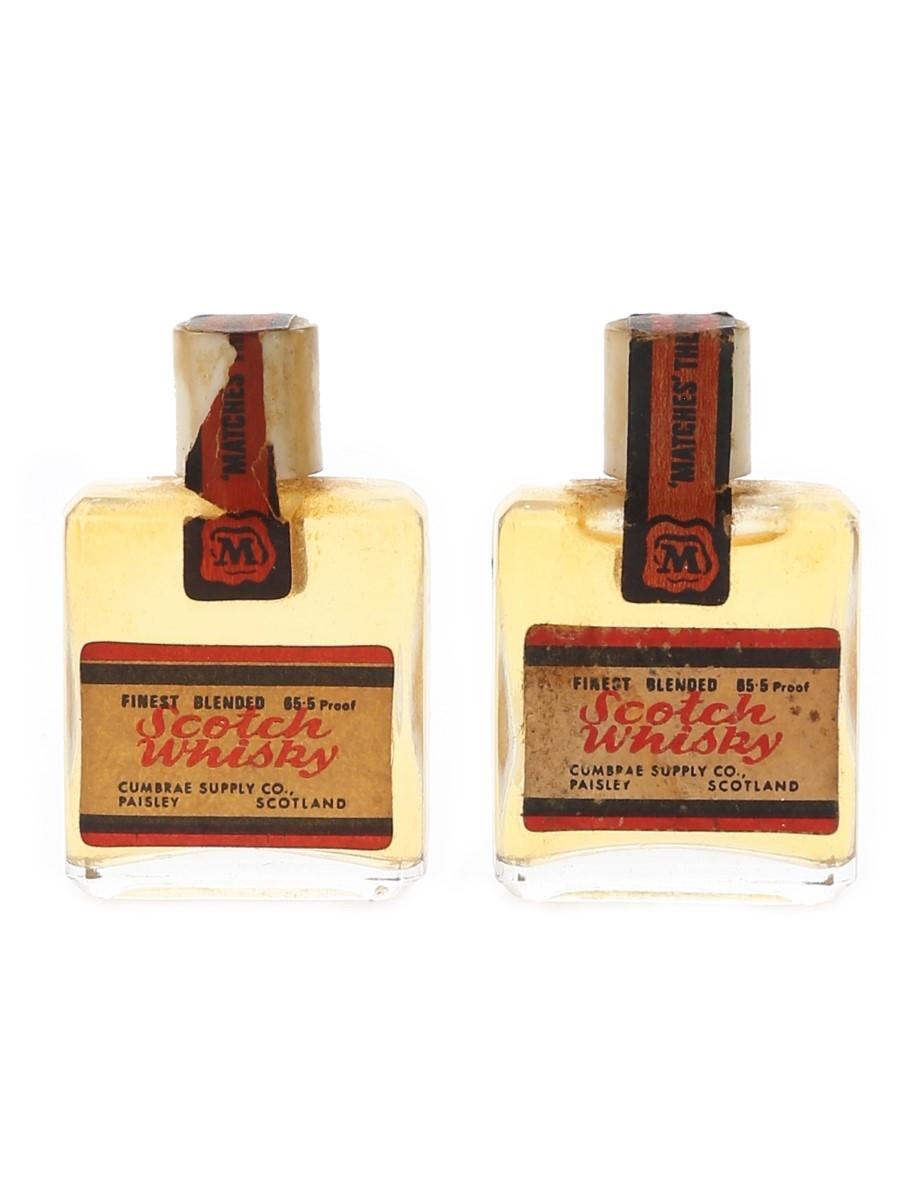 Matches Finest Blended Scotch Whisky Bottled 1970s 2 x 1cl / 40%
