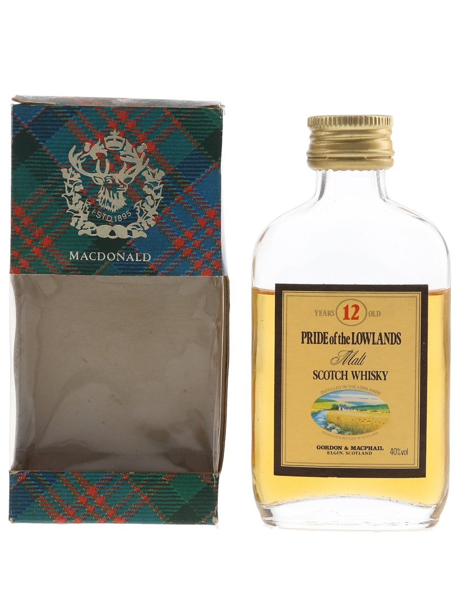 Pride Of The Lowlands 12 Year Old Bottled 1980s - Gordon & MacPhail 5cl / 40%