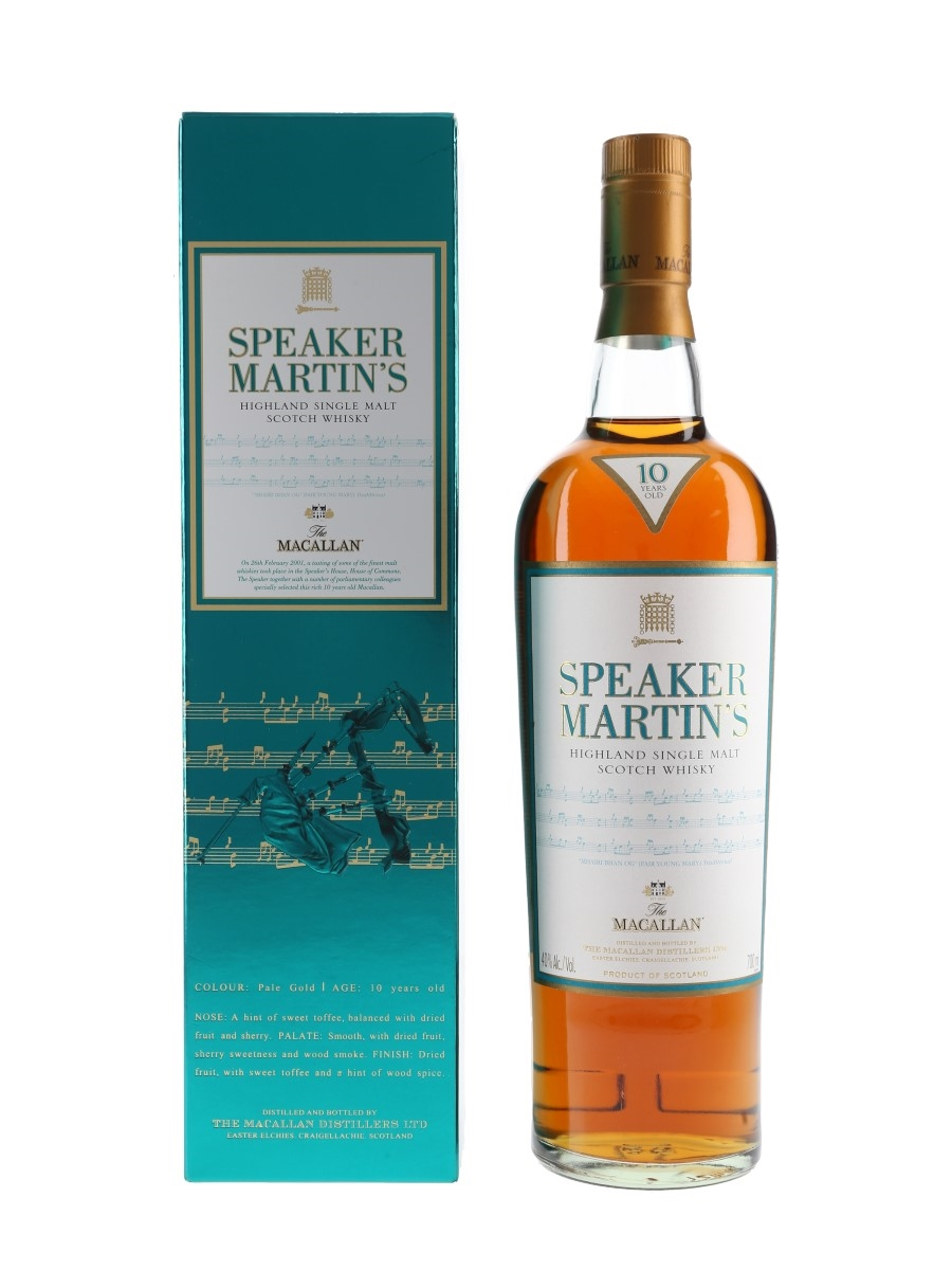 Macallan 10 Year Old Speaker Martin's 70cl / 40%