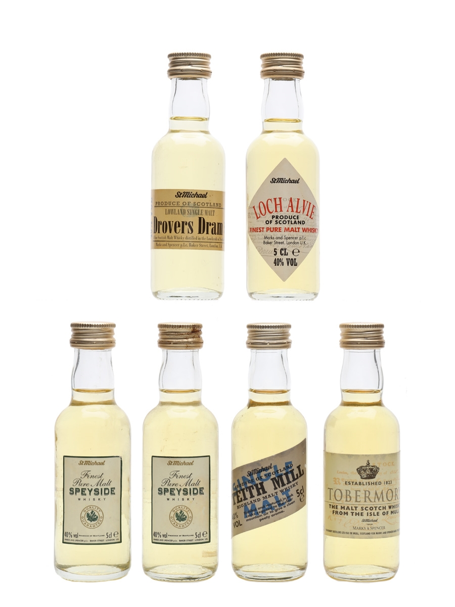 Marks & Spencer Whisky Drovers Dram, Loch Alvie, Teith Mill, Tobermory & Speyside 6 x 5cl / 40%