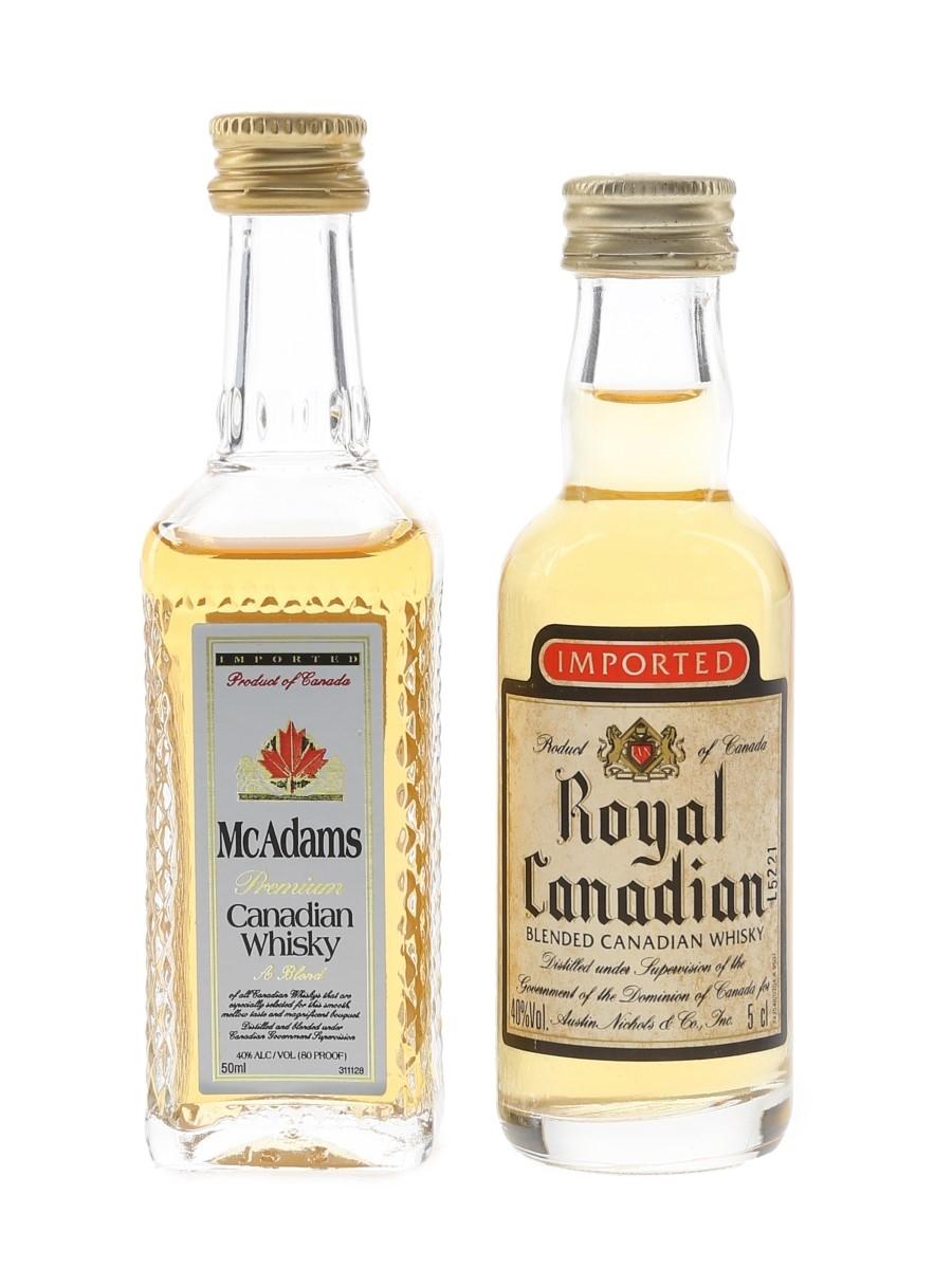 McAdams & Royal Canadian  2 x 5cl / 40%