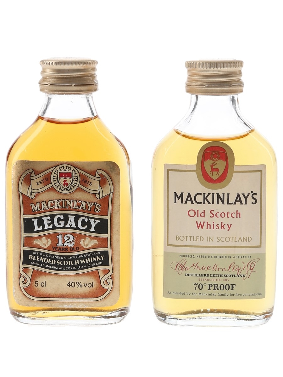 Mackinlay's Legacy & Old Scotch Bottled 1970s & 1980s 2 x 5cl / 40%