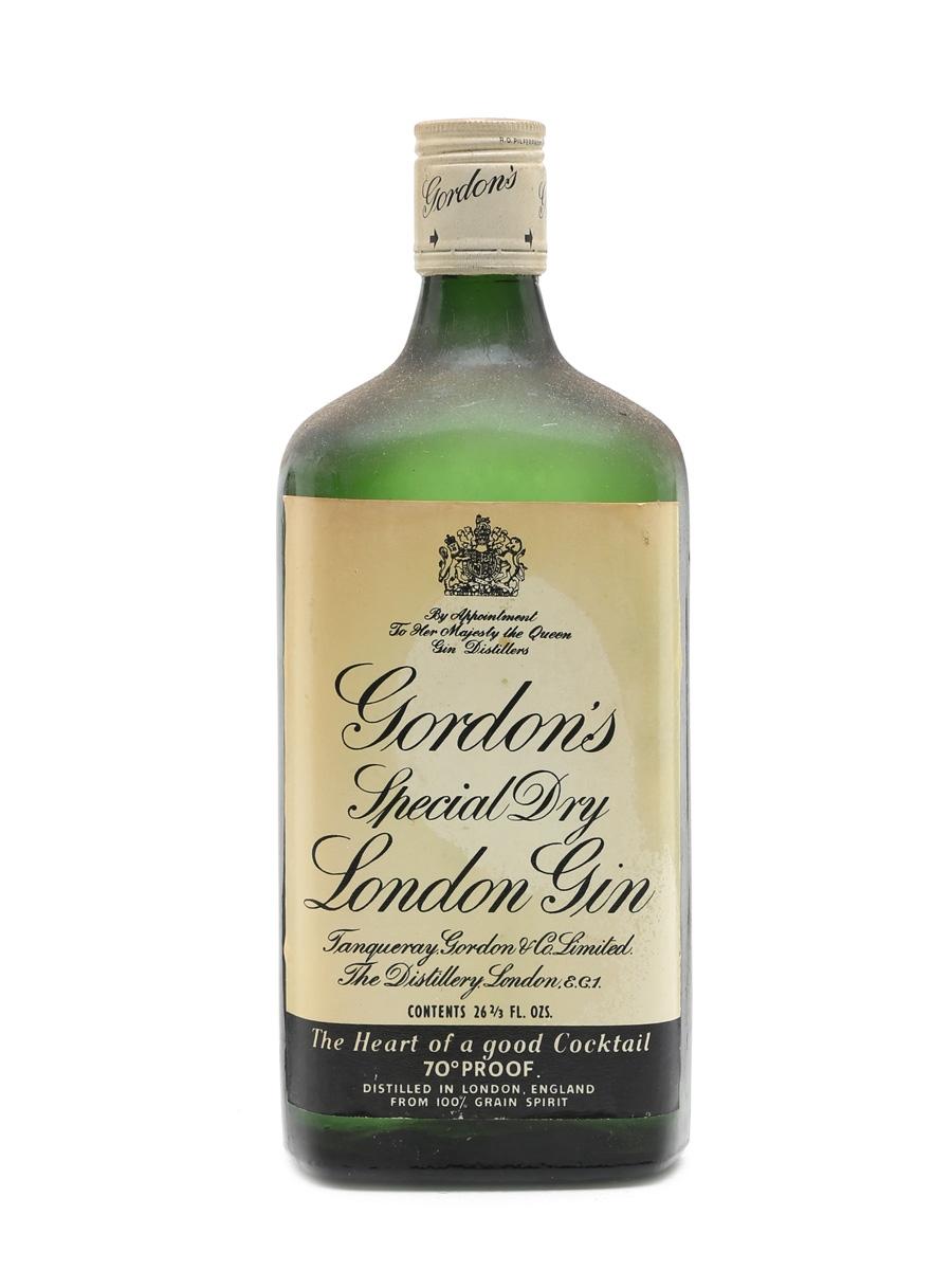 Gordon's Gin Bottled 1960s 75cl