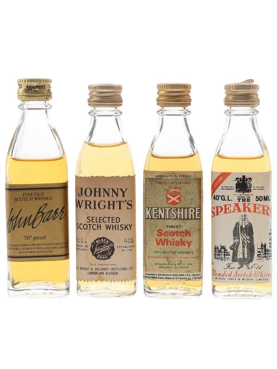 John Barr, Johnny Wright's, Kentshire & Speaker Bottled 1970s & 1980s 4 x 4.8cl-5cl / 40%