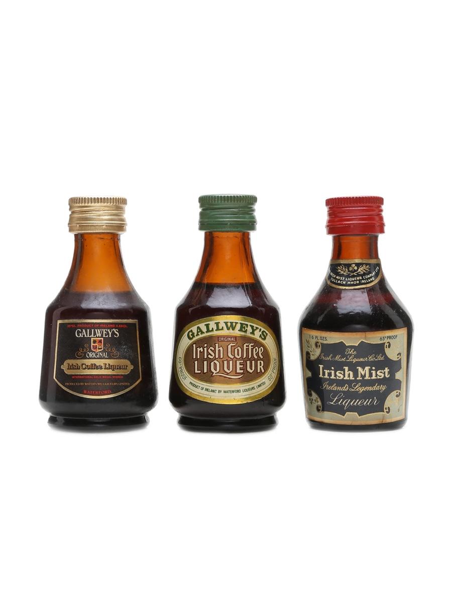 Irish Liqueur Miniatures  3 x 5cl