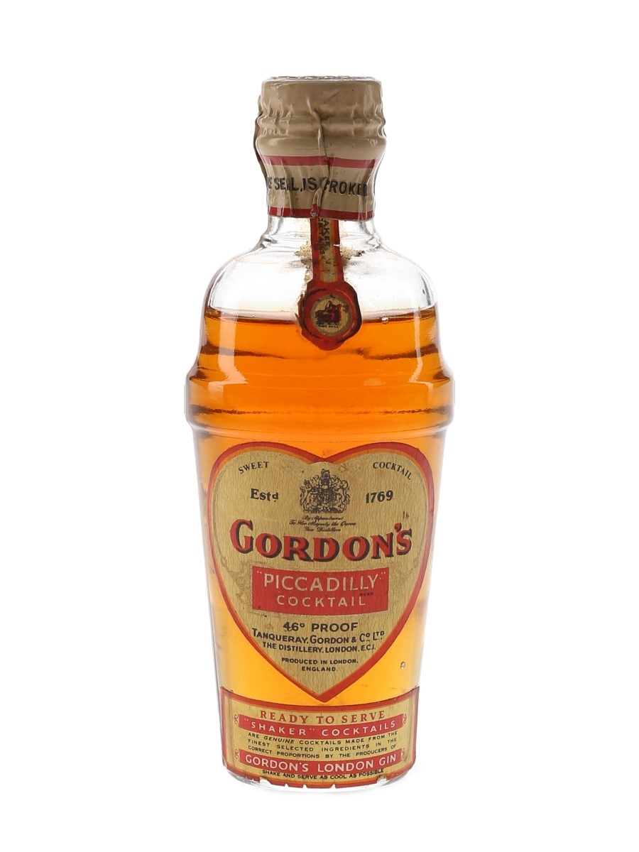 Gordon's Piccadilly Cocktail Spring Cap Bottled 1950s 5cl / 26%