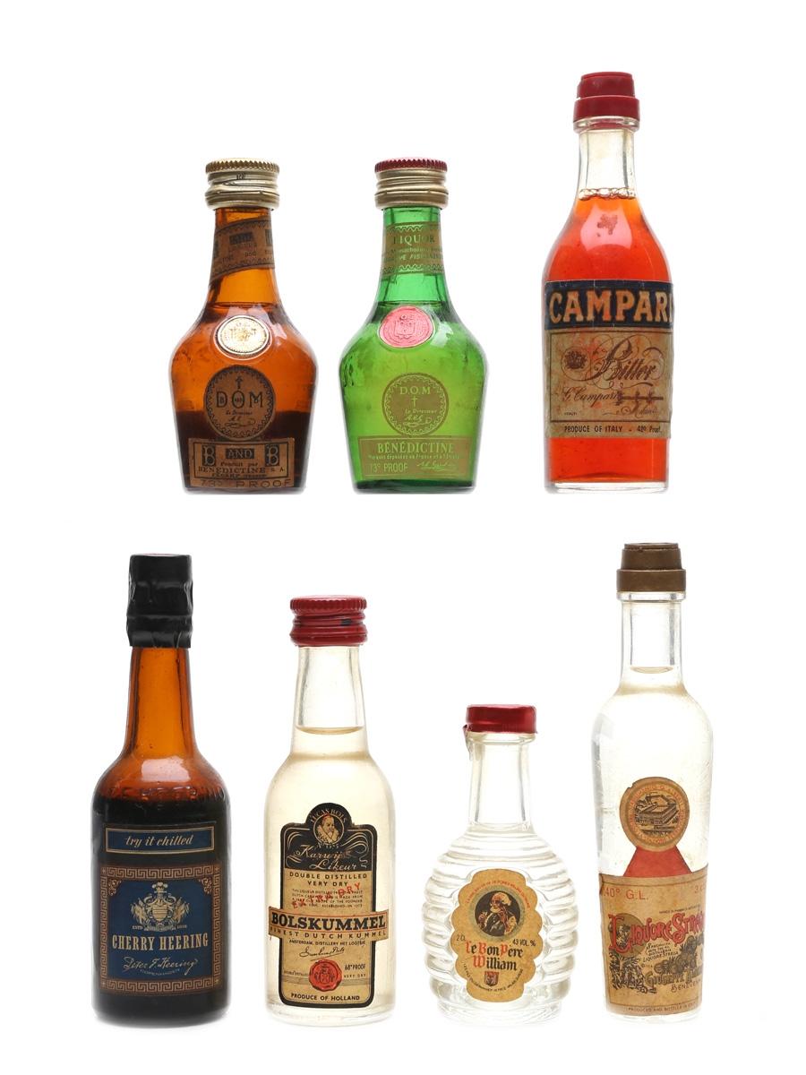 Assorted Liqueurs Incl. Campari 3 x 2cl & 4 x 3cl