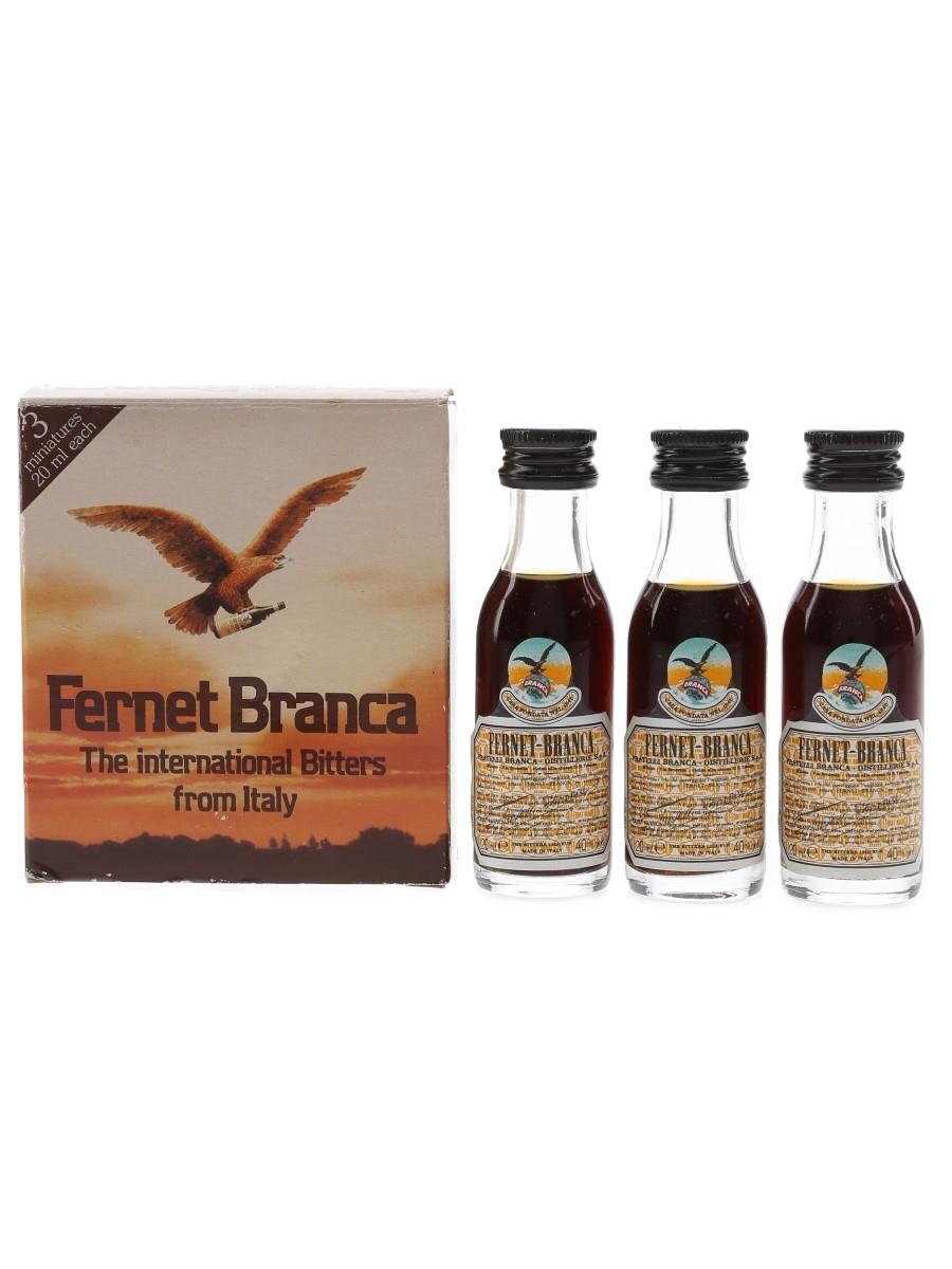 Fernet Branca Bottled 1990s 3 x 2cl / 40%