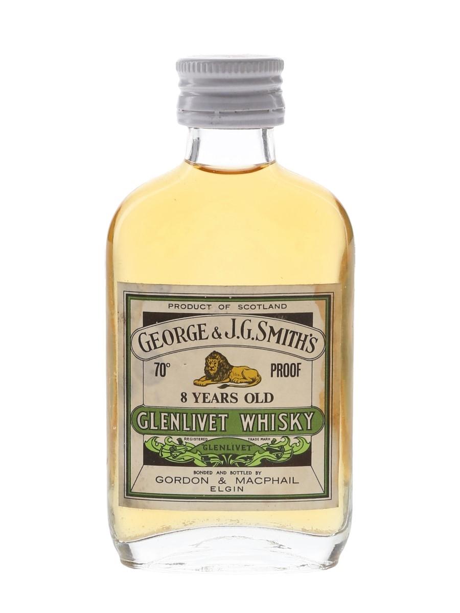 Glenlivet 8 Year Old Bottled 1970s - Gordon & MacPhail 5cl / 40%