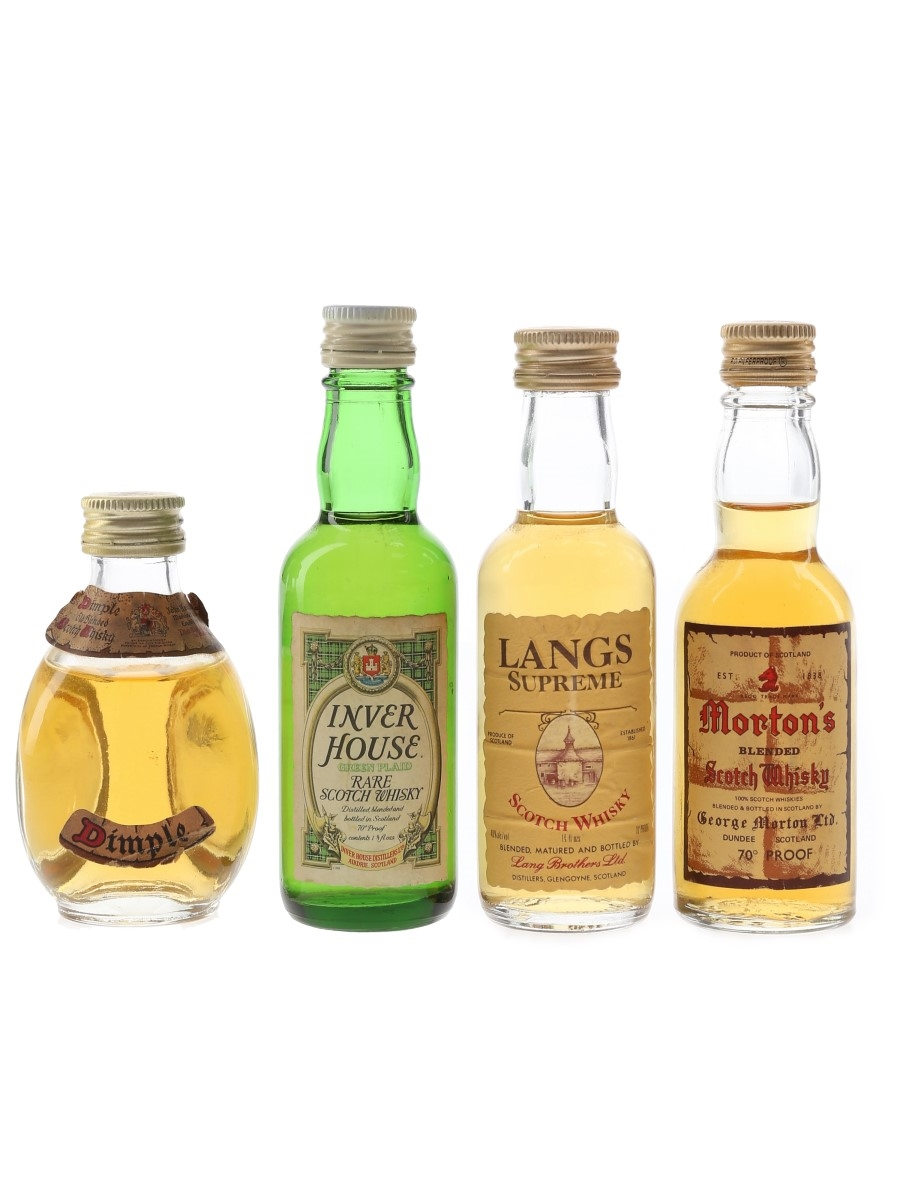 Dimple, Inver House, Langs Supreme & Morton's Bottled 1970s 4 x 4.7cl-5cl / 40%