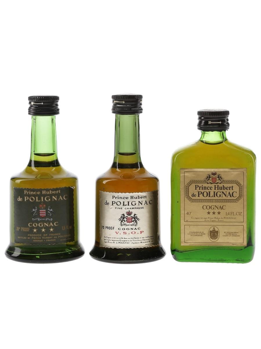 Prince Hubert De Polignac 3 Star & VSOP Bottled 1970s 3 x 3cl-4cl / 40%